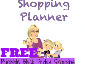 FREE Black Friday Printable Shopping Planner