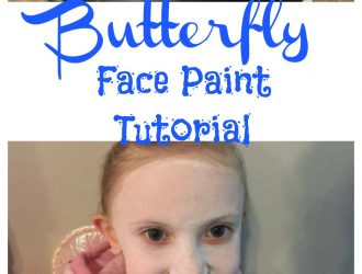 Butterfly Face Paint Tutorial with Snazaroo Nontoxic face paint!