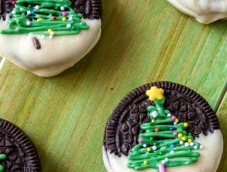 Chocolate Christmas Tree Oreos