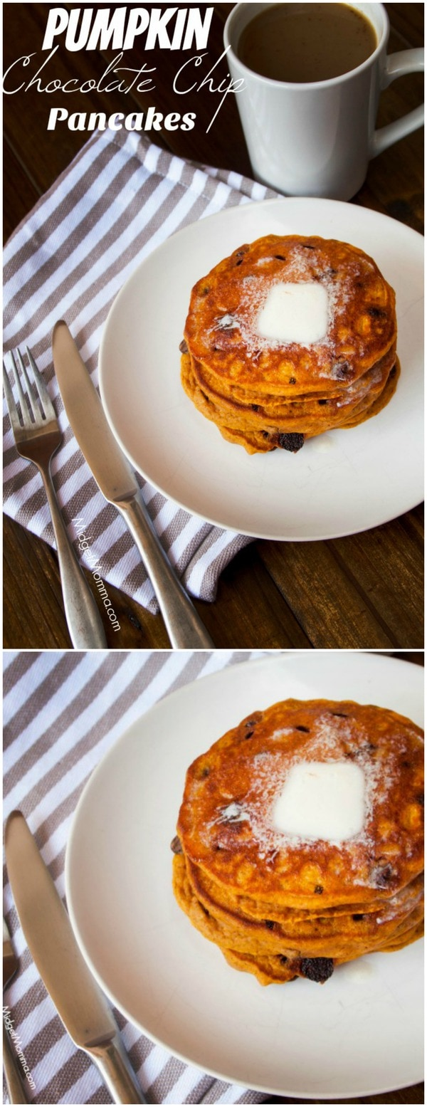 Pumpkin Chocolate Chip Pancakes Midgetmomma