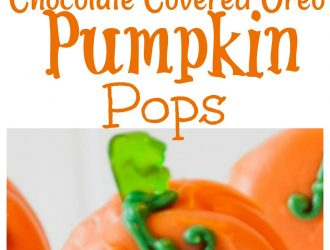 How to make pumpkin Oreo Pops