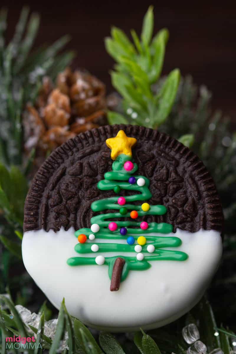 Christmas Tree Oreo Cookies