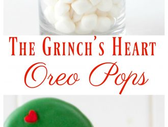 The Grinch's Heart Oreo Pops