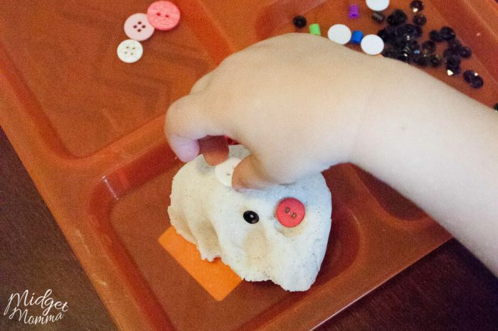 Playdough Snowman Activity