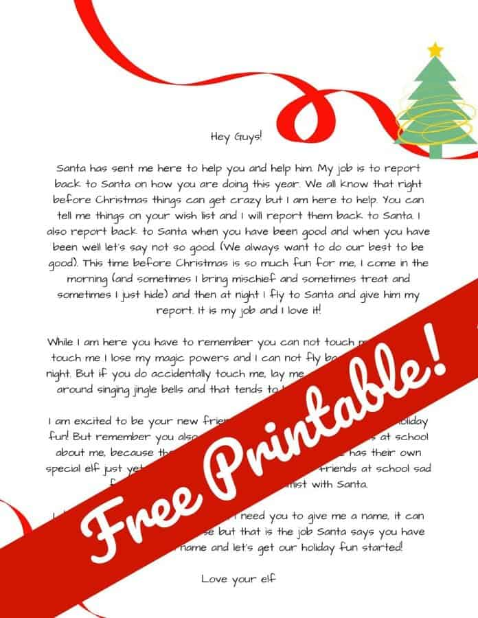 image relating to Elf Printable Coupons referred to as Elf upon the Shelf Advent Letter. Free of charge Elf Upon the Shelf Printable