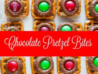 Sweet and Salty Holiday Chocolate Pretzel Bites