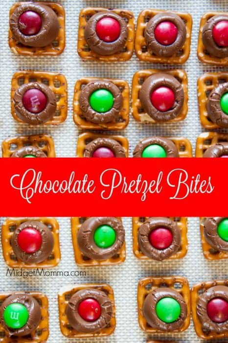 Make our Chocolate Pretzel Bites as a great sweet and savory treat that is ideal for the holidays! These are perfect candy gifts and easy to make!