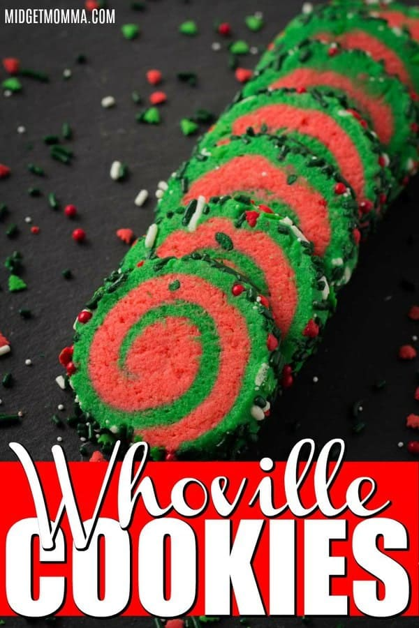 Christmas Whoville Pinwheel Cookies Recipe