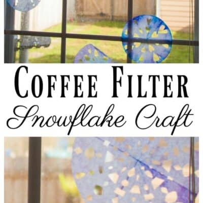 Coffee filter snowflake craft