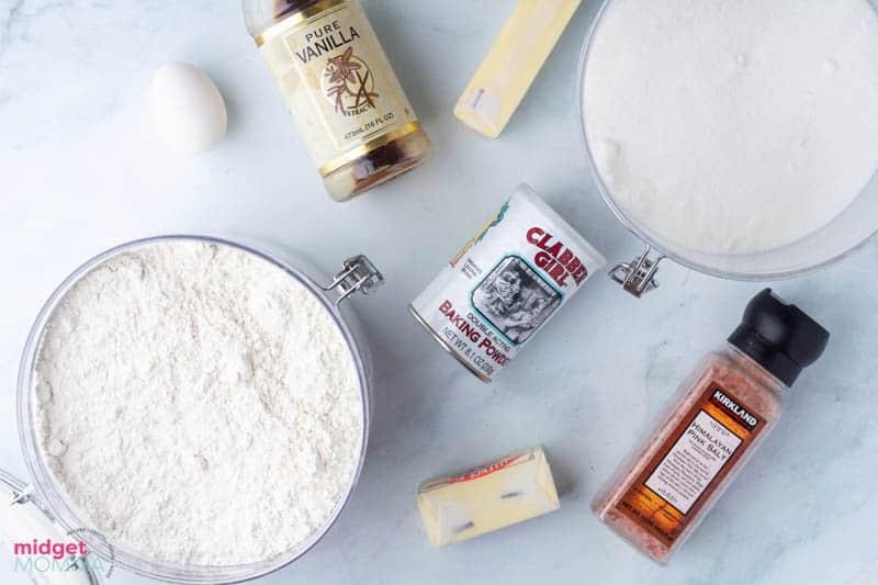 No Spread Sugar Cookies Recipe ingredients