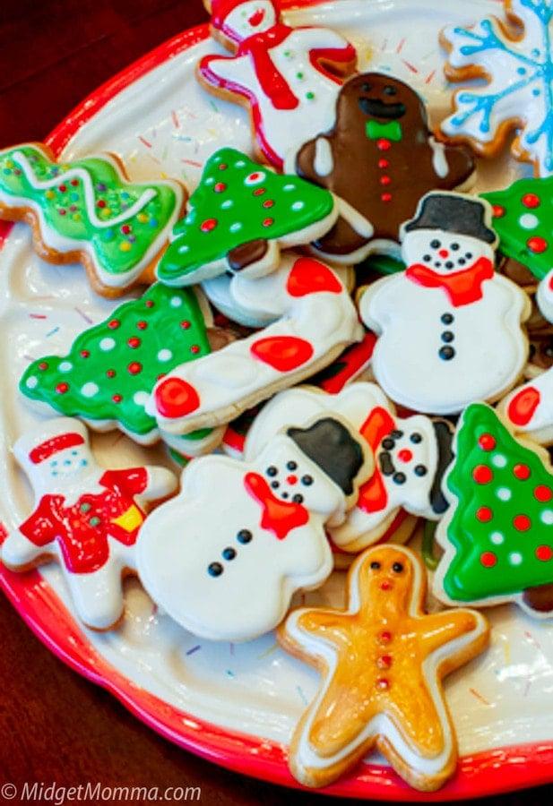 Christmas Sugar cookies with no spread sugar cookie dough