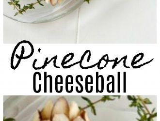 Pinecone Christmas Cheese Ball
