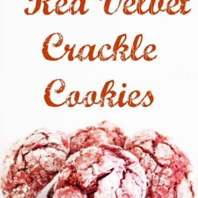 Red Velvet Crackle Cookies. These Red Velvet Crackle Cookies are great christmas cookies. These Red Velvet Crackle Cookies are already red christmas colored and makes them festive. #RedVelvet #RedVelvetCookie #CrinkleCookie #CrackleCookie