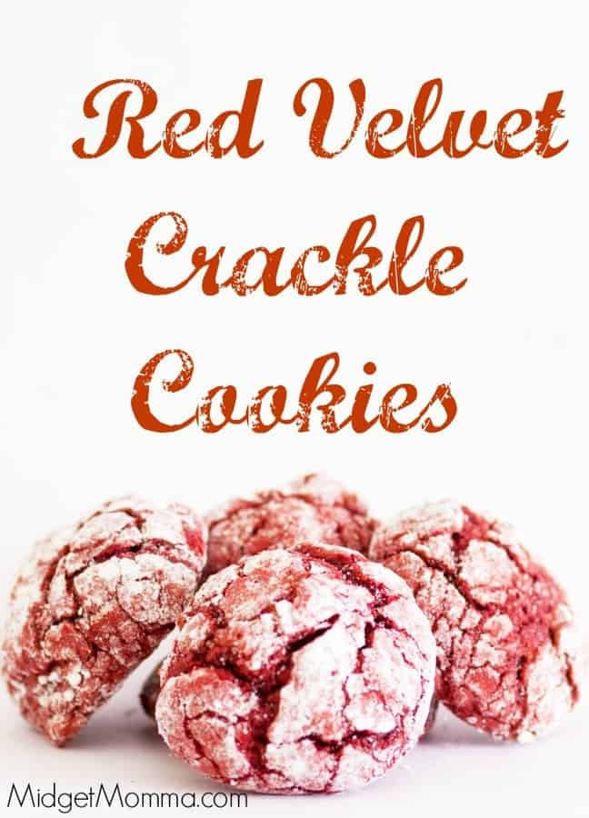 Red Velvet Crackle Cookies Midgetmomma