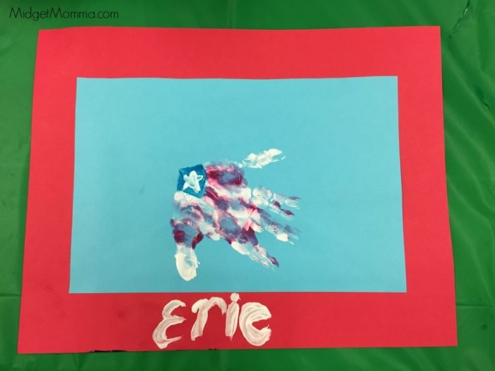 Flag Hand Print Craft