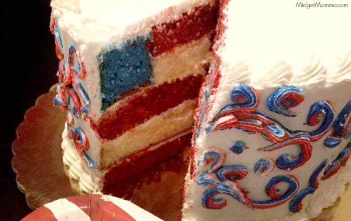 Layered Flag Cake Recipe