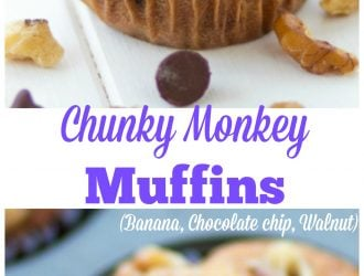 Chunky Monkey Muffins (Banana, Chocolate chip, Walnut)
