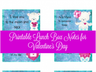 Printable Valentine's Day Lunch Box Notes
