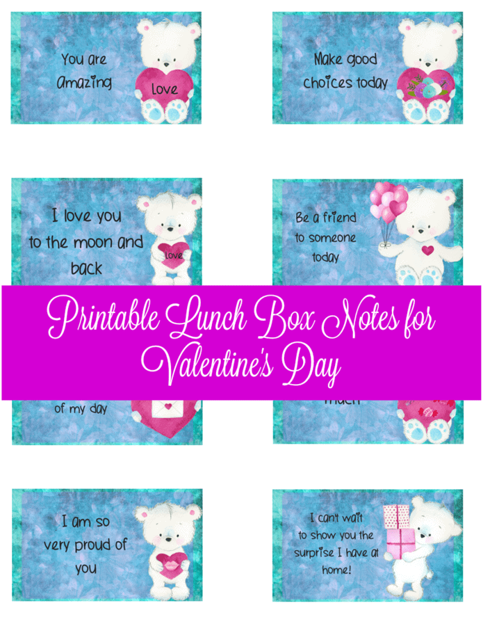 printable valentine u0026 39 s day lunch box notes  u2022 midgetmomma