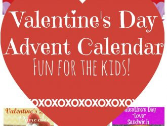 Printable 14 day Valentine's Day Advent Calendar