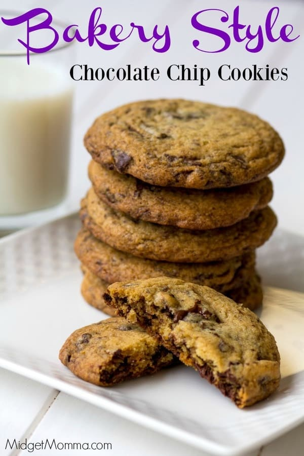 Bakery Style Chocolate Chip Cookies Midgetmomma