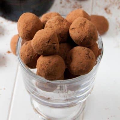 close up shot of Bailey's Irish Cream Coffee Truffles
