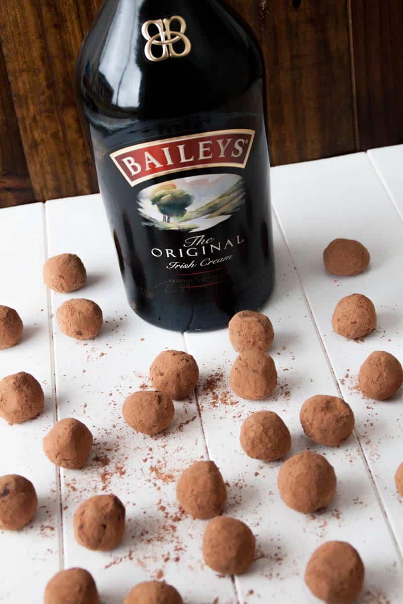 Bailey's Irish Cream Coffee Truffles  on a table