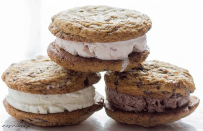 Bakery Style Cookie Ice Cream Sandwiches