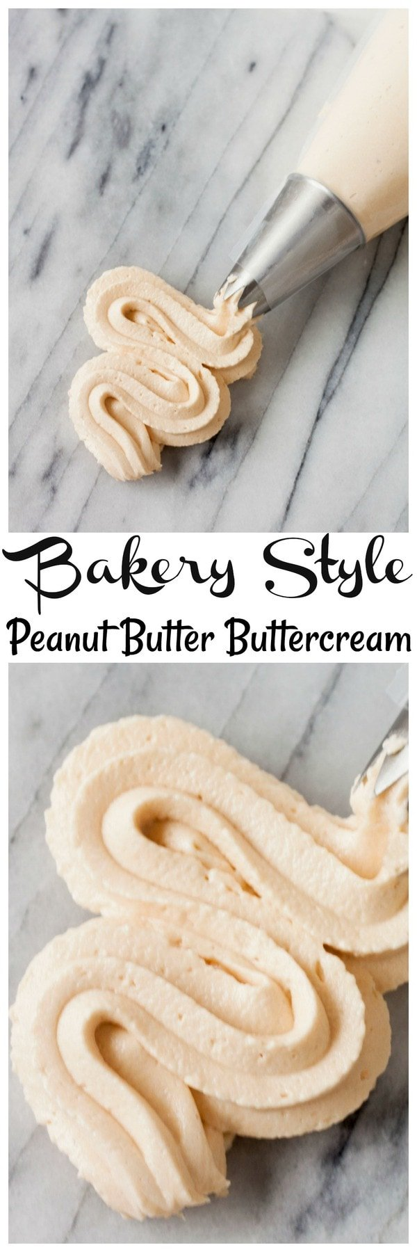 Easy to make Bakery Style Peanut BUtter Buttercream Frosting, never buy store bought frosting again with this homemade Bakery Style Peanut BUtter Buttercream Frosting. Homemade Bakery Style Peanut BUtter Buttercream Frosting is perfect for making cakes. Bakery Style Peanut BUtter Buttercream Frosting tastes just like a bakery!