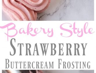 Easy to make Strawberry buttercream frosting, never buy store bought frosting again with this homemade Strawberry buttercream frosting recipe. Homemade Strawberry buttercream frosting is perfect for making cakes. Strawberry buttercream frosting tastes just like a bakery!