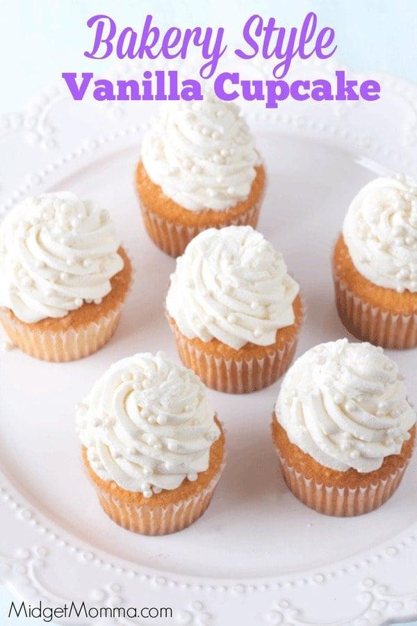 Bakery Style Vanilla Cupcake Midgetmomma