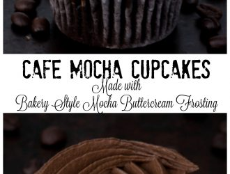 Cafe Mocha Cupcakes Made with Bakery Style Frosting