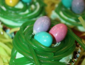 Easter Bunny Egg Nest Cupcakes