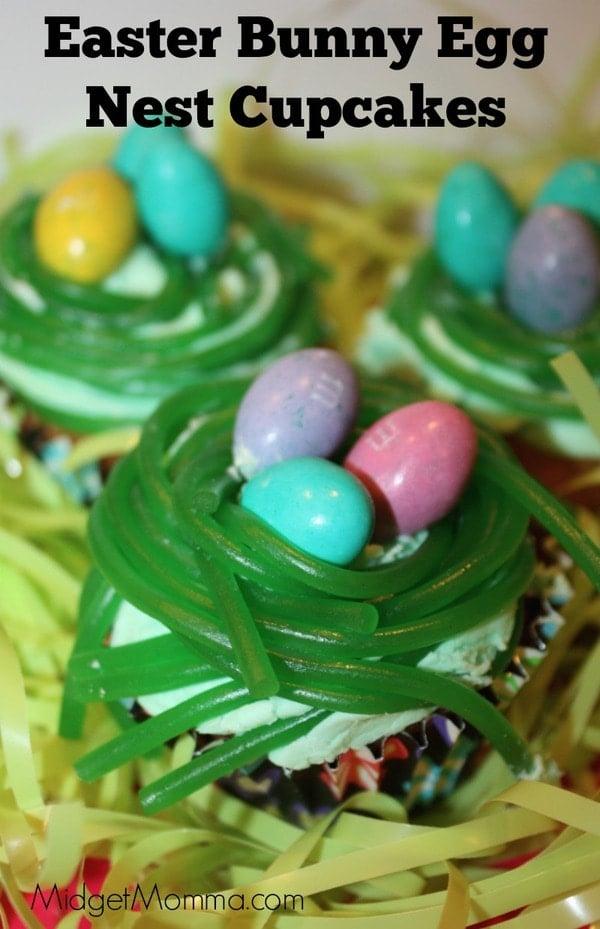 Easter Bunny Egg Nest Cupcakes