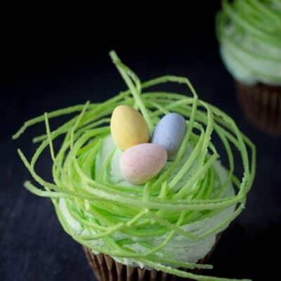 Easter Egg Nest Cupcakes
