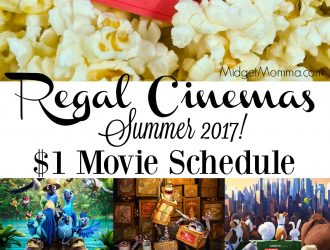 Regal Cinemas Summer Movie Schedule! Only $1 Per Person!