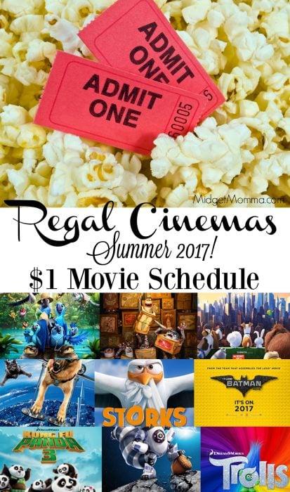 Regal Cinemas Summer Movie Schedule