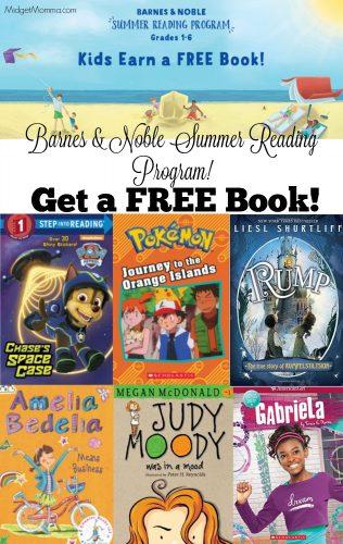 barnes and noble summer reading program. Kids get FREE books!
