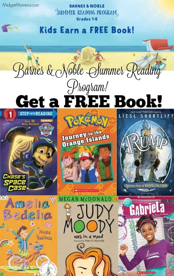 barnes and noble summer reading program. Kids get FREE books!