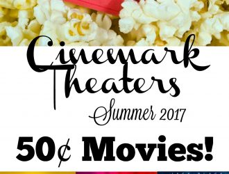 Cinemark Summer Movies! ONLY 50¢ Per Person!!