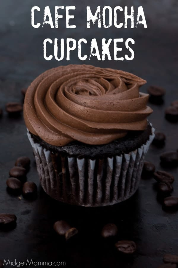 Cafe Mocha Cupcakes Made with Bakery Style Frosting • MidgetMomma