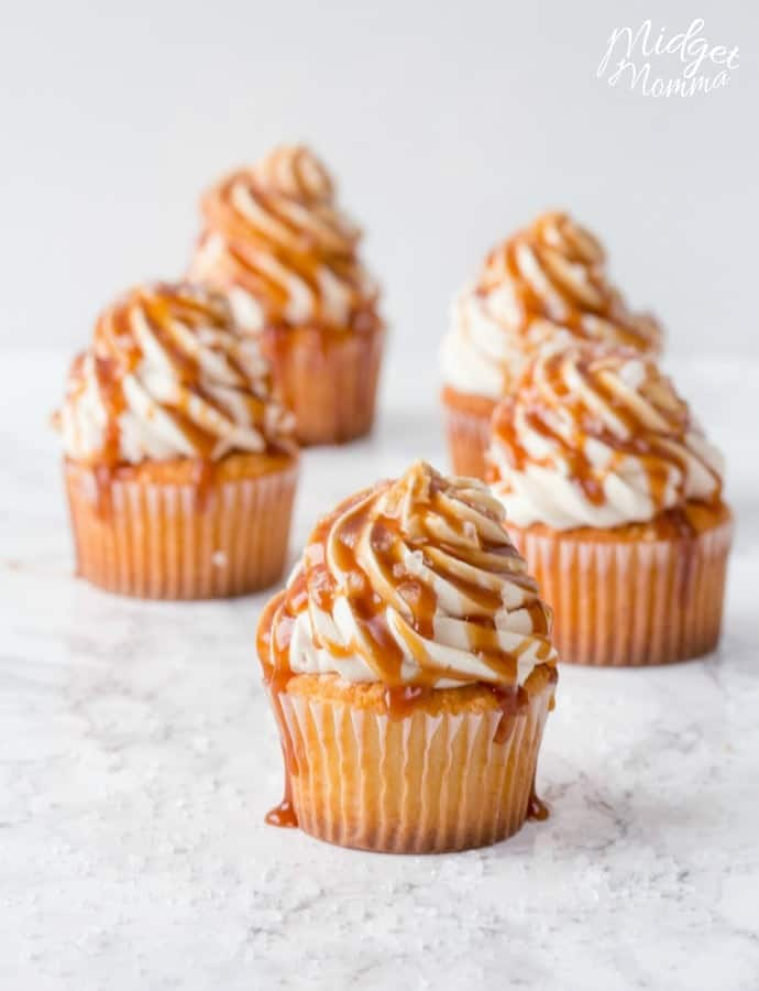 Salted Caramel Cupcakes With Homemade Caramel Amp Frosting