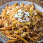 Chicken Bacon Ranch Loaded Cheese Fries