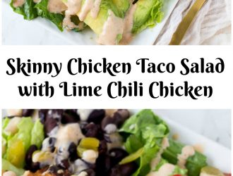 Skinny Chicken Taco Salad with Lime Chili Chicken