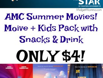 AMC Summer Movies! Movie & Snack Pack for $4
