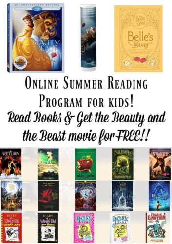 Beauty and the Beast Online Summer Reading Program! Get a FREE Copy