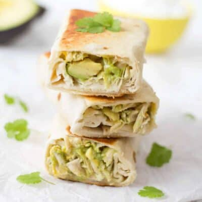 Chicken and Avocado Burrito