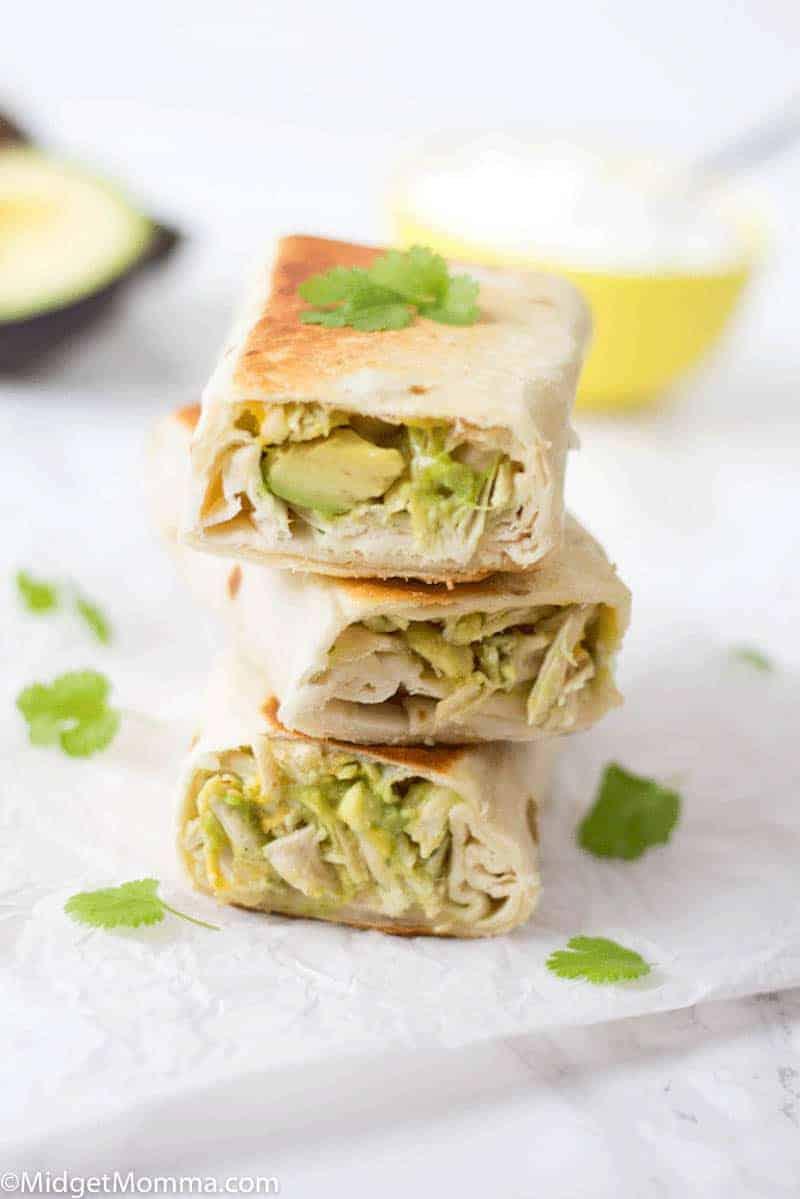 Chicken and Avocado Burrito