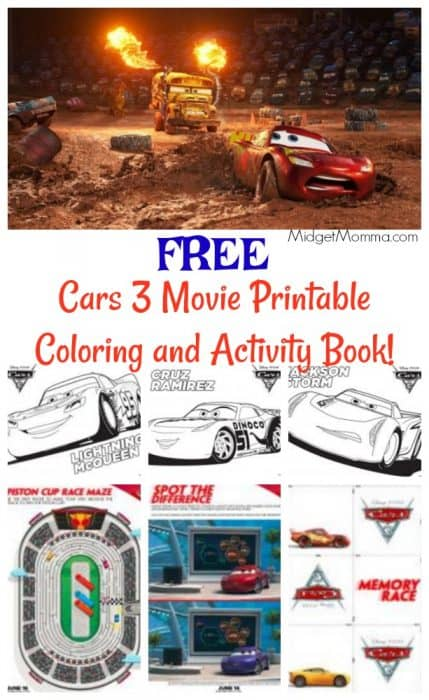 Coming Attractions >> FREE Cars 3 Movie Printable Coloring Pages and Activity Book! • MidgetMomma