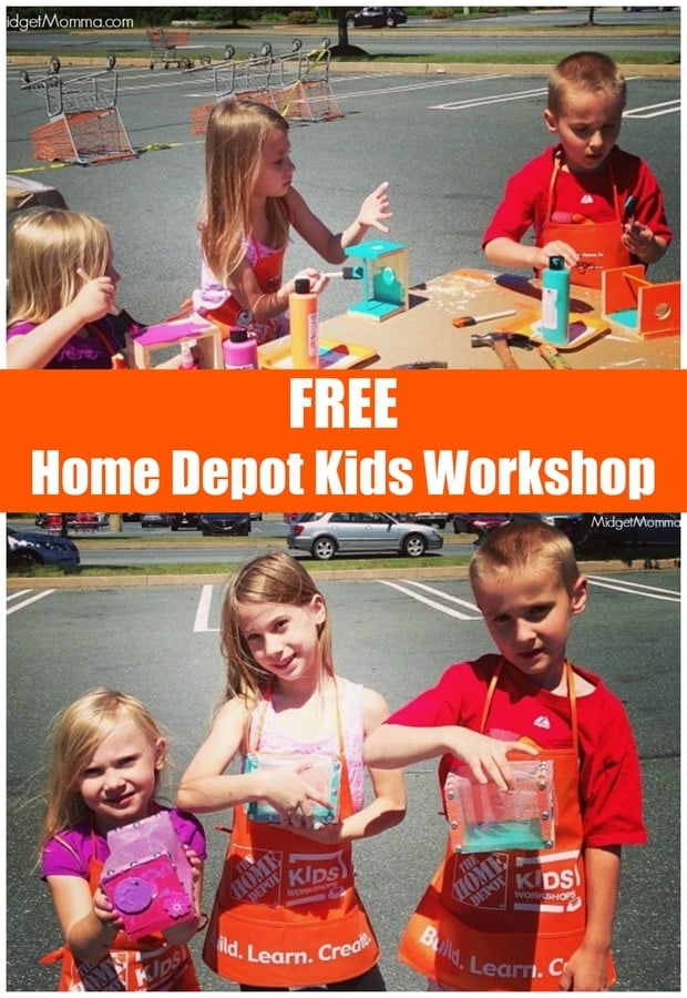 Free Home Depot Kids Workshops July 1st Build A Bug House